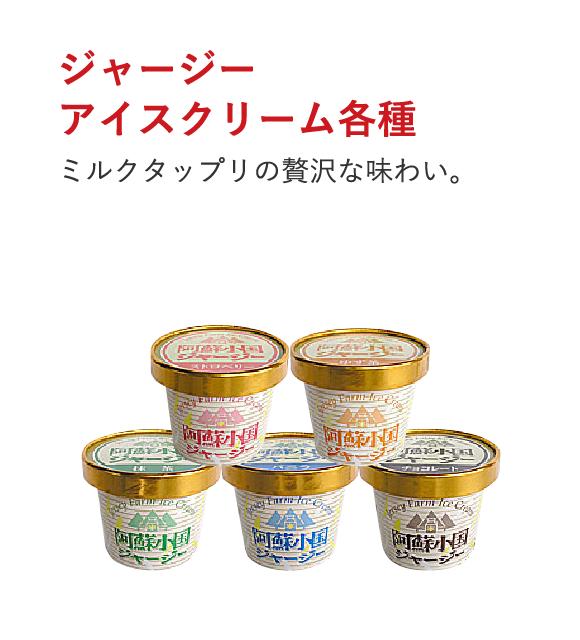ジャージーアイスクリーム各種